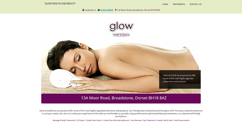 GLOW Health and Beauty website image