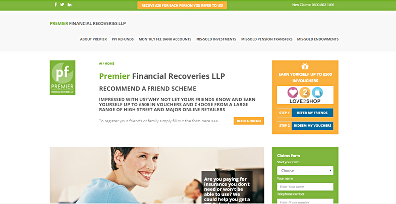Premier Financial Recoveries LLP website image