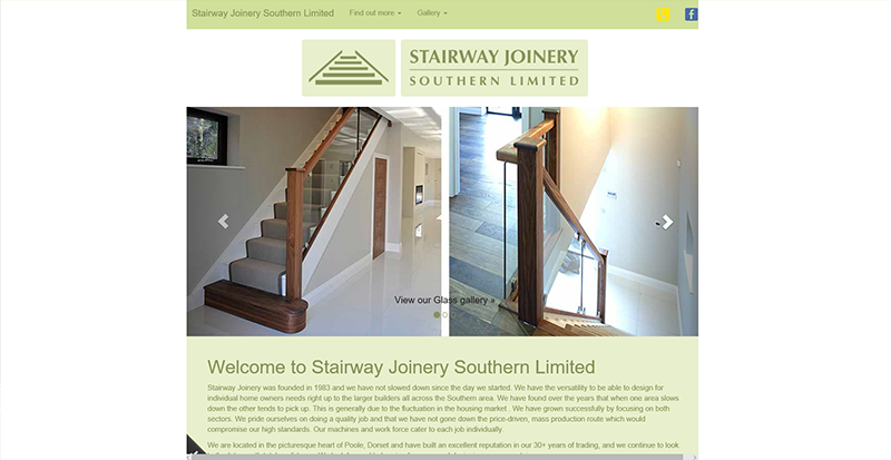 Stairway Joinery Southern Limited website image
